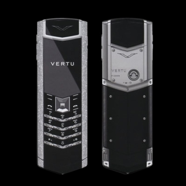Vertu Signature S Design White Gold Full Baguette Diamonds