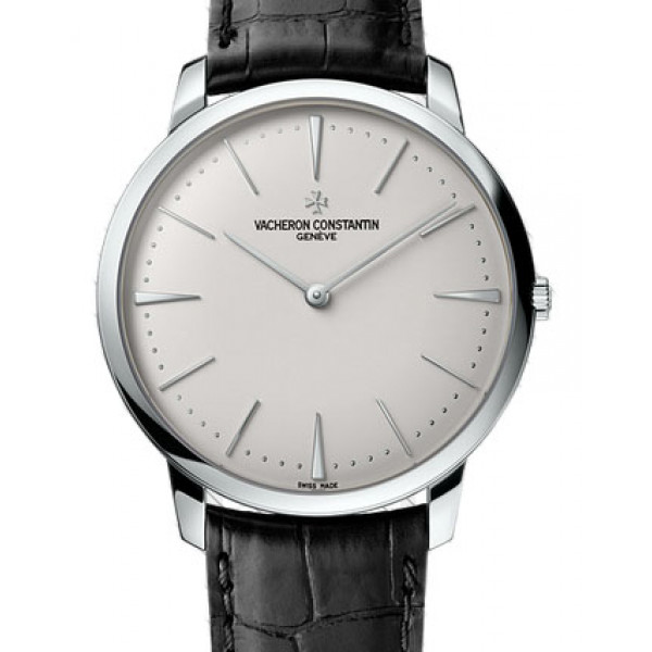 Vacheron Constantin Patrimony Grand Taille (18kt WG/ Silver / Leather)