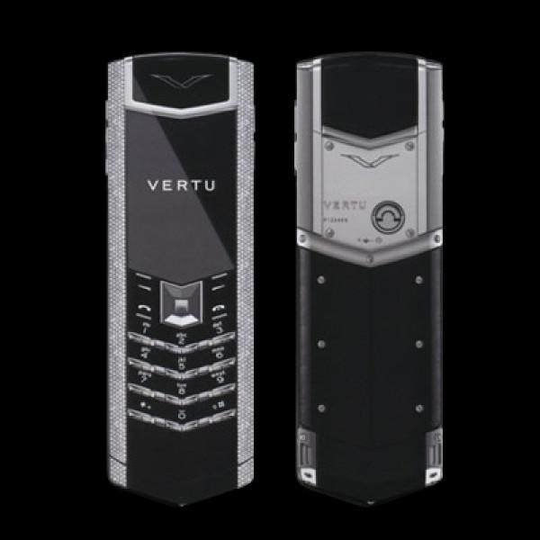 Vertu Signature S Design White Gold Full Pave Diamonds