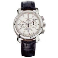 Vacheron Constantin Malte Perpetual Calendar Chronograph (Platinum / White / Leather)