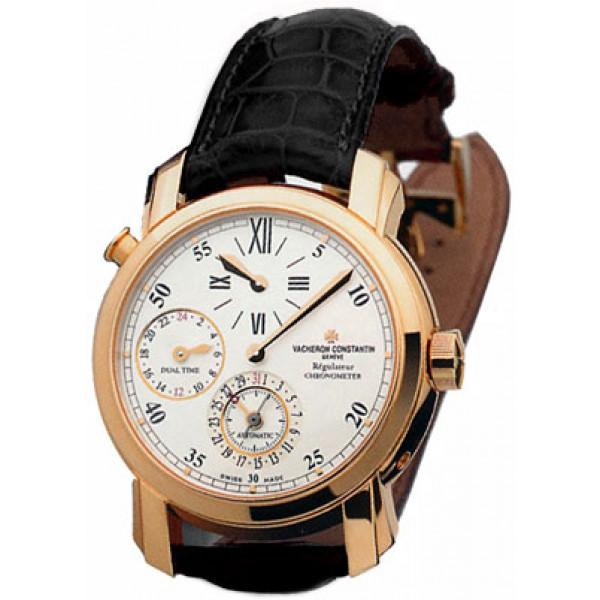 Vacheron Constantin Malte Dual Time Regulator (18kt RG / White / Leather)