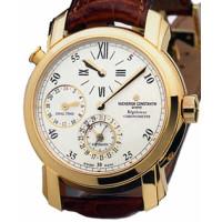 Vacheron Constantin Malte Dual Time Regulator (18kt YG / White / Leather)