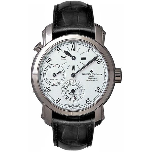 Vacheron Constantin Malte Dual Time Regulator (18kt WG / White / Leather)