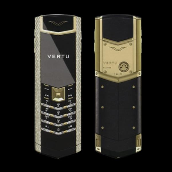 Vertu Signature S Design Yellow Gold Full Pave Diamonds