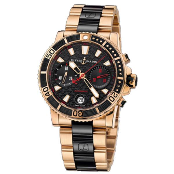 Ulysse Nardin Maxi Marine Diver Chronograph Rose Gold 2013