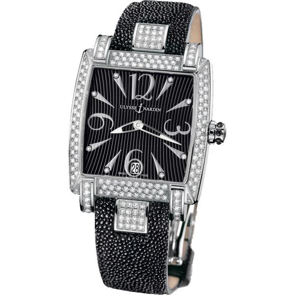 Ulysse Nardin Caprice (SS-Diamonds / Black / Strap)