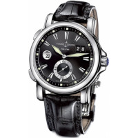 Ulysse Nardin Dual Time 42mm (Steel / Black / Leather)