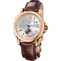 Ulysse Nardin Dual Time 42mm (RG / Silver / Leather)
