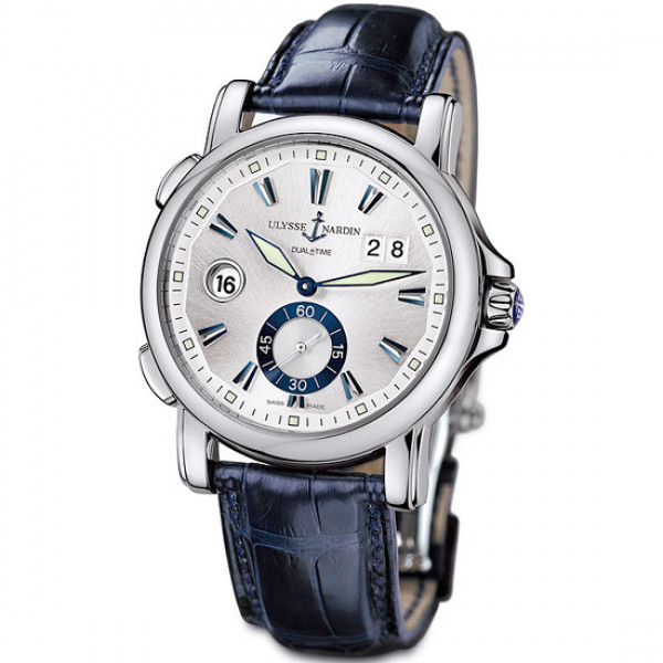 Ulysse Nardin Dual Time 42mm (Steel / Silver / Leather)