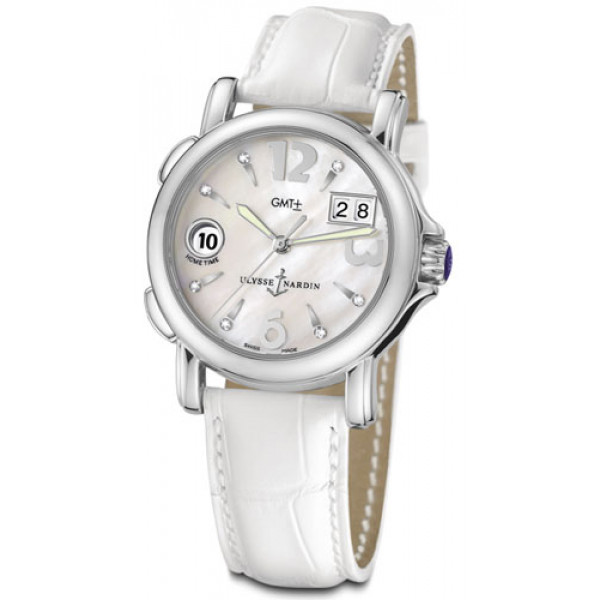 Ulysse Nardin GMT± Big Date Ladies (Leather / White)