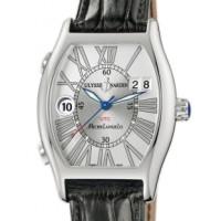 Ulysse Nardin Michelangelo UTC Dual Time (SS/ Silver / Roman / Leather)