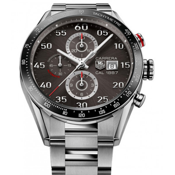 Tag Heuer Calibre 36 Chronograph Flyback 43mm  Black and gray dial, steel bracelet