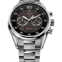 Tag Heuer Calibre 36 Chronograph Flyback 43mm 2013 Black and gray dial, steel bracelet