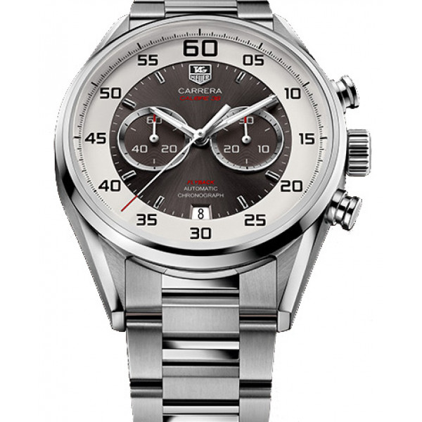 Tag Heuer Calibre 36 Chronograph Flyback 43mm 2013 Gray and silver dial, steel bracelet