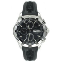 Tag Heuer Aquaracer Automatic Chrono Day Date (SS / Black / Rubber)