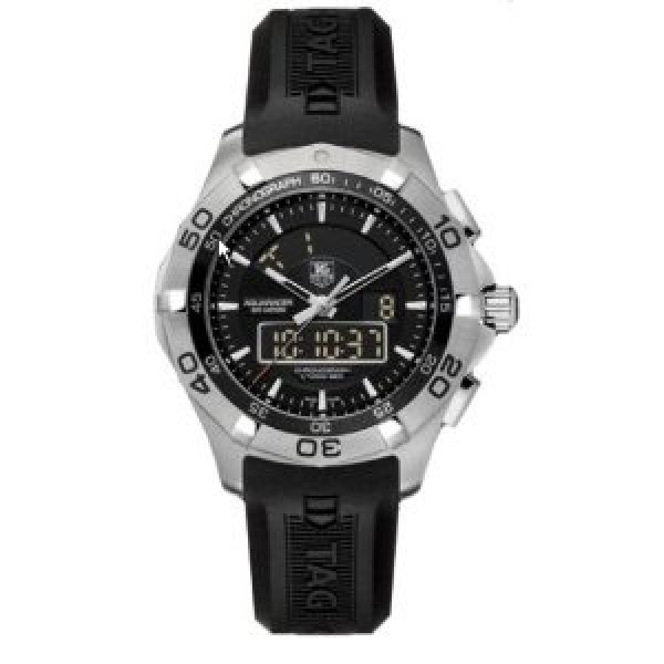 Tag Heuer Aquaracer Chronotimer (SS / Black / Rubber)