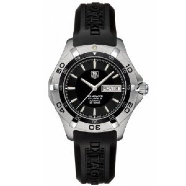 Tag Heuer Aquaracer Automatic Day Date (SS / Black / Rubber)
