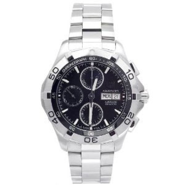Tag Heuer Aquaracer Automatic Chrono Day Date (SS / Black / SS)