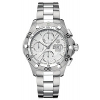 Tag Heuer Aquaracer Automatic Chrono Day Date (SS / Silver / SS)