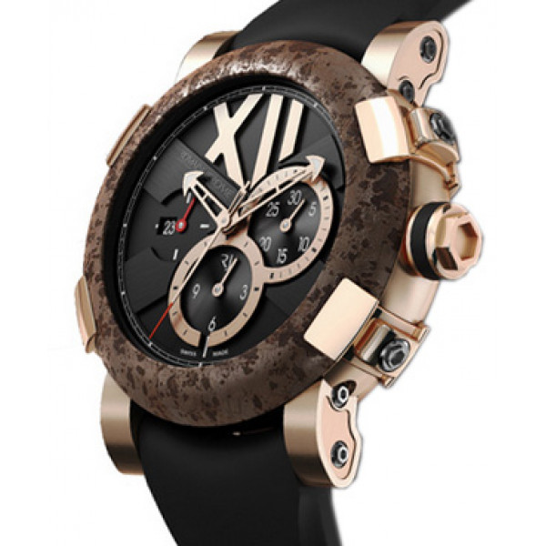 Romain Jerome Titanic-DNA rusted steel T-oxy III Chronograph pink gold