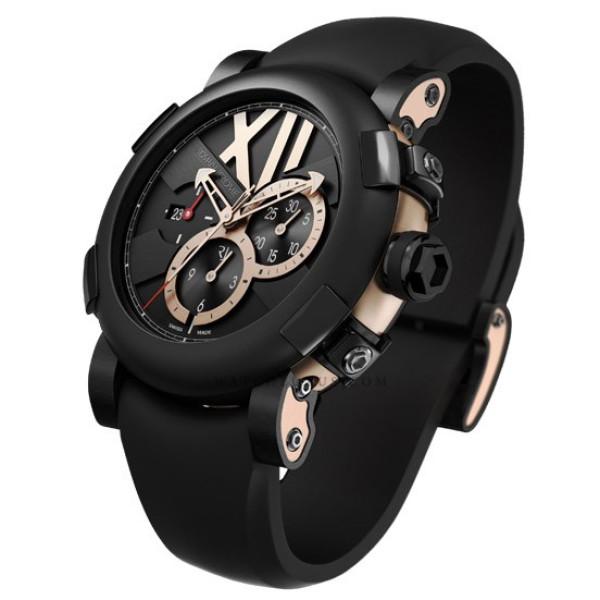Romain Jerome Five black II pink gold chronograph