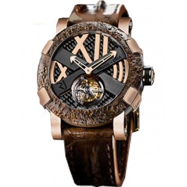 Romain Jerome Rusted steel T-oxy IV Tourbillon pink gold   Ultimate
