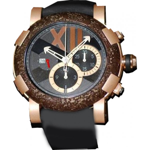 Romain Jerome Titanic-DNA – rusted steel T-oxy IV Chronograph Ultimate / pink gold mat