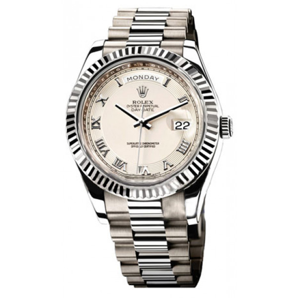 Rolex Day-Date II President White Gold - Silver Dial