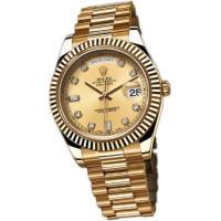 Rolex Day-Date II 41mm Yellow Gold Champagne Diamonds