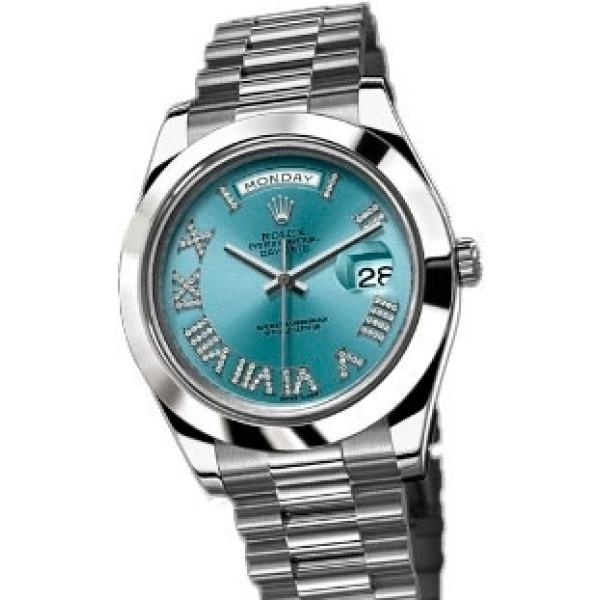 Rolex Day-Date II 41mm Platinum IceBlue Diamonds