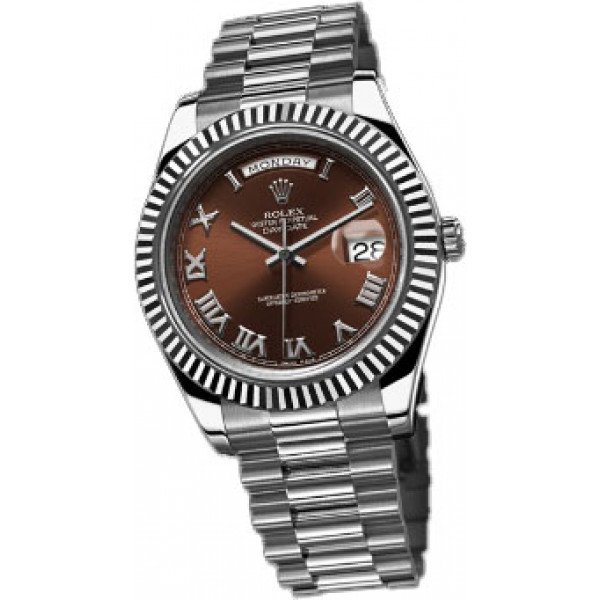 Rolex Day-Date II 41mm White Gold Brown Dial