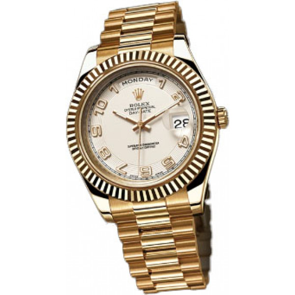 Rolex Day-Date II 41mm Yellow Gold Ivory