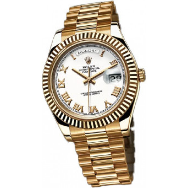 Rolex Day-Date II President Yellow Gold - Fluted Bezel