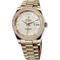 Rolex Day-Date II President Yellow Gold - Diamond Bezel White dial