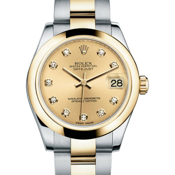 Rolex Datejust 31mm - Steel and Gold Yellow Gold - Domed Bezel - Oyster