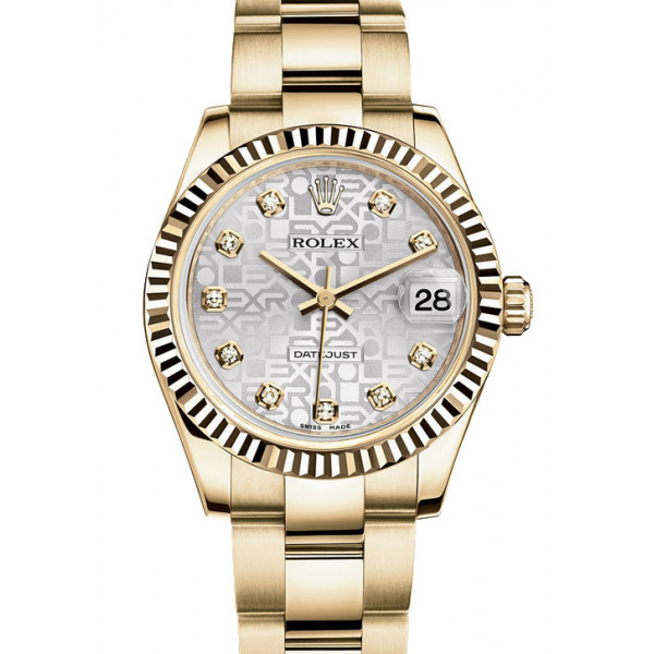 Rolex Datejust 31mm - Yellow Gold - Fluted Bezel- Oyster