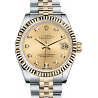 Rolex Datejust 31mm - Steel and Yellow Gold - Fluted Bezel - Jubilee