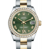 Rolex Datejust 31mm - Steel and Yellow Gold - 46 Diamond Bezel - Oyster