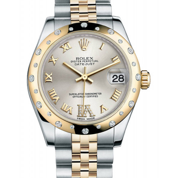 Rolex Datejust 31mm - Steel and Gold Yellow Gold - 24 Dia Bezel - Jubilee