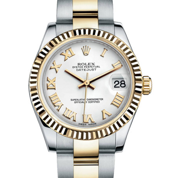 Rolex Datejust 31mm - Steel and Yellow Gold - Fluted Bezel - Oyster