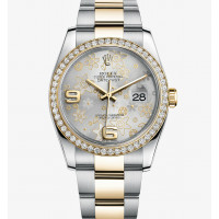 Rolex Datejust 36mm - Steel and Yellow Gold Diamond Bezel - Oyster
