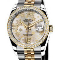 Rolex Datejust 36mm - Steel and Gold Yellow Gold - Diamond Bezel - Jublilee
