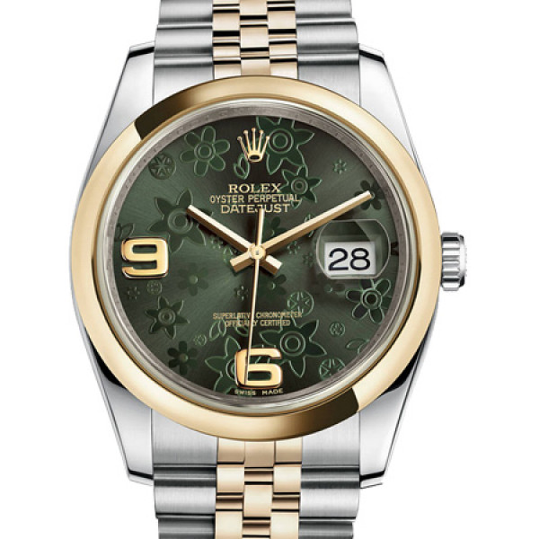 Rolex Datejust 36mm - Steel and Gold Yellow Gold - Domen Bezel - Jubilee