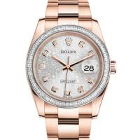 Rolex Datejust 36mm Pink Gold - Diamond Bezel - Bracelet 2013