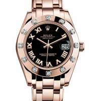Rolex Datejust 34mm Special Edition Pink Gold Masterpiece 12 Dia Bezel