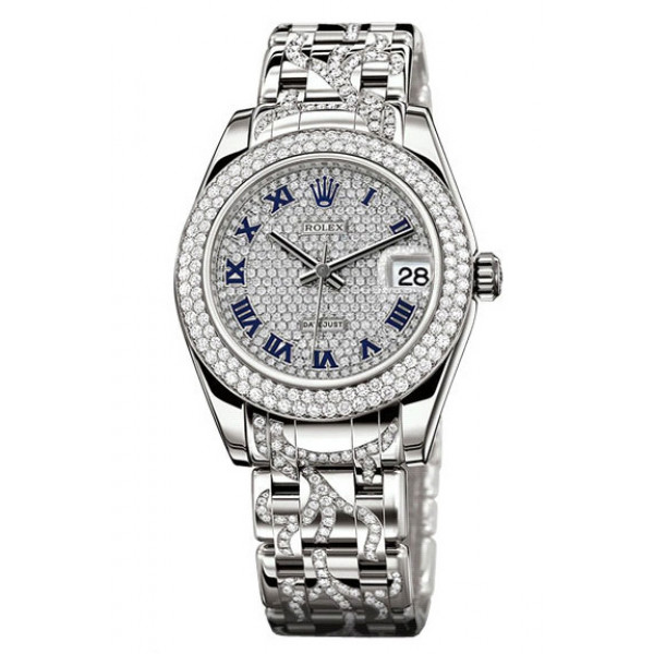 Rolex Datejust 34mm Special Edition White Gold Diamond