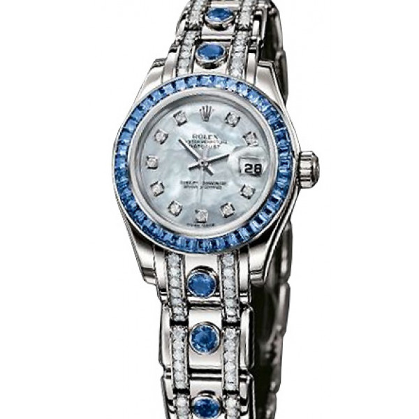 Rolex  Pearlmaster Gold Sapphire Ladies