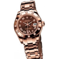 Rolex Datejust Lady - Pearlmaster Pink Gold Masterpiece 12 Dia Bezel
