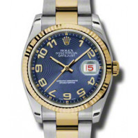 Rolex Datejust 36mm - Steel and Gold Yellow Gold - Fluted Bezel - Oyster