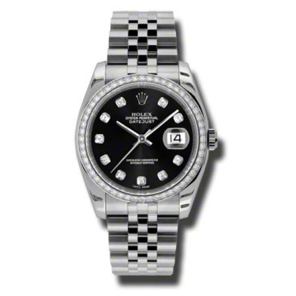 Rolex Datejust 36mm - Steel White Gold Dia Bezel - Jublilee